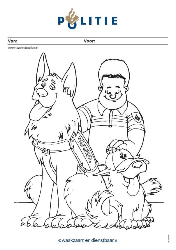 Kleurplaten Politiehonden.Kleurplaat Politiehonden Vraaghetdepolitie Nl
